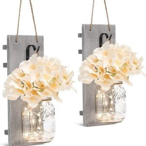 Other - Fairy Lights Wrought Iron Hooks Silk Flowers